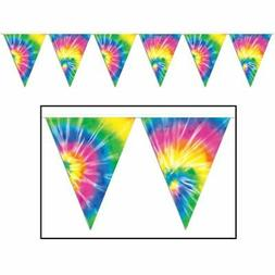 Tie-Dyed Pennant Banner Party Accessory