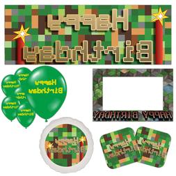 TNT Pixel World Craft Children's Party Tableware Decorations