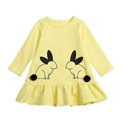 Toddler Kid Baby Girls Clothes Cute Cartoon Rabbit Cotton Pr