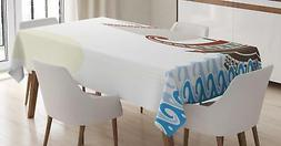 Toga Party Tablecloth by Ambesonne 3 Sizes Rectangular Table