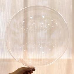 Transparent Balloons 50Pcs PVC Bubble No Wrinkles Birthday W