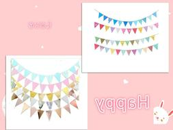 Triangle Decoration Banners for Birthday Party Baby Shower,