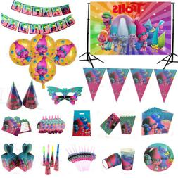 Trolls Poppy Birthday Party Supplies  Kids Tableware Decorat