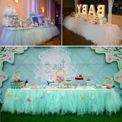 Tulle Tutu Table Skirt For Wedding Party Birthday Baby Showe