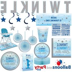 Twinkle Little Star Boy's 1st Birthday Party Supplies Tablew