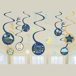 TWINKLE LITTLE STAR SPIRAL Hanging Decorations Baby Shower P