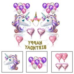 Unicorn Balloons Birthday Party Supplies for Kids Birthday D