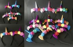 Unicorn Headbands Kids Party Bags Fillers Supplies Decoratio