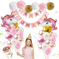 Unicorn Party Balloon Set, 35 Pieces, For Birthday Party Dec