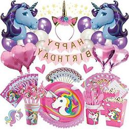 Unicorn Party Supplies Birthday Bundle For Girls Complete Se