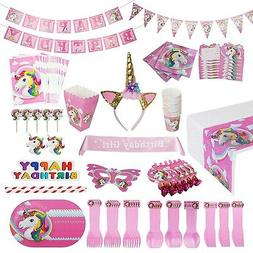 Unicorn Party Supplies Pack  WITH Sash and Horn Unicorn Head
