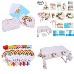 Unicorn Party Supplies Set Girls Decorations Kit Packs For K