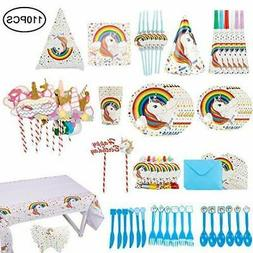 Unicorn Party Supplies Set, Girls Party Decorations Supplies