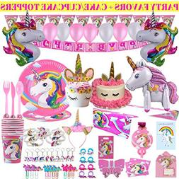 Unicorn Party Supplies,Konsait Glitter Unicorn Photo Booth P
