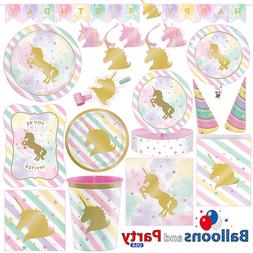 Unicorn Sparkle Pony Girl's Birthday Party Tableware Decorat