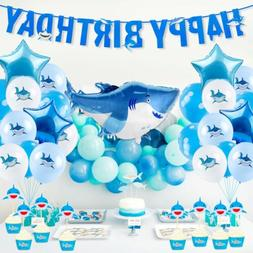 US Blue Shark Party Supply For Birthday Balloons Hanging Dec