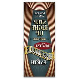 Vintage Circus Door Cover Decor Greatest On Earth Carnival B