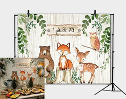 Woodland Backdrop for Baby Shower Jungle Animals Baby Shower