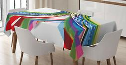 Vivid Tablecloth Ambesonne 3 Sizes Rectangular Table Cover D