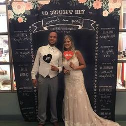 Wedding chalkboard backdrop, Wedding photo backdrop wedding
