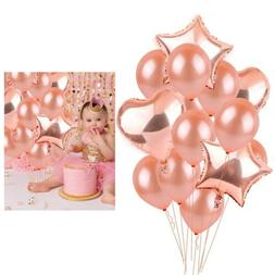 Wedding Supply Rose Gold Balloon Confetti Foil Happy Birthda