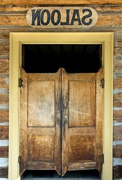 OFILA Western Saloon Door Photos Backdrop 5x7ft Rustic Bar B