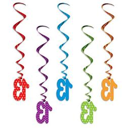 """Beistle 52138-13""""13"""" Whirls , 3', Multicolor"""