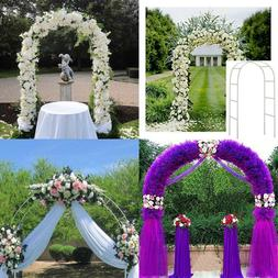 Adorox 7.5 Ft White Metal Arch Wedding Garden Bridal Party D