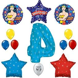 Combined Brands Wonder Woman Party Supplies 4th Birthday Par