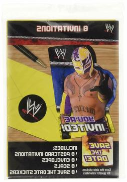 WWE Wrestling Party Supplies Invitations cards with envelope