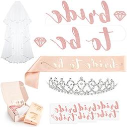 xo, Fetti Rose Gold Pink Bachelorette Party Decorations Kit